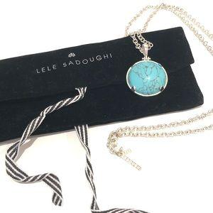 Lele Sadoughi Half Moon Pendant Necklace New